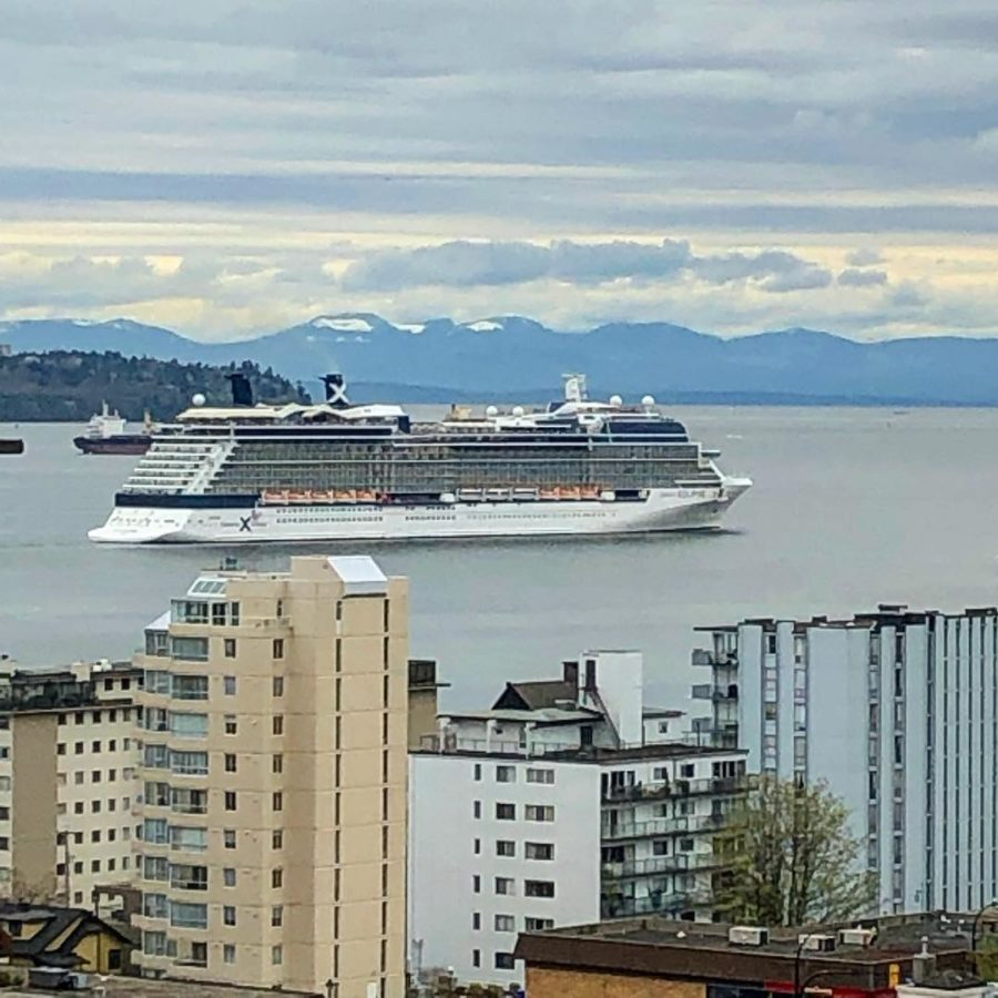 West Vancouver view of cruise ships
