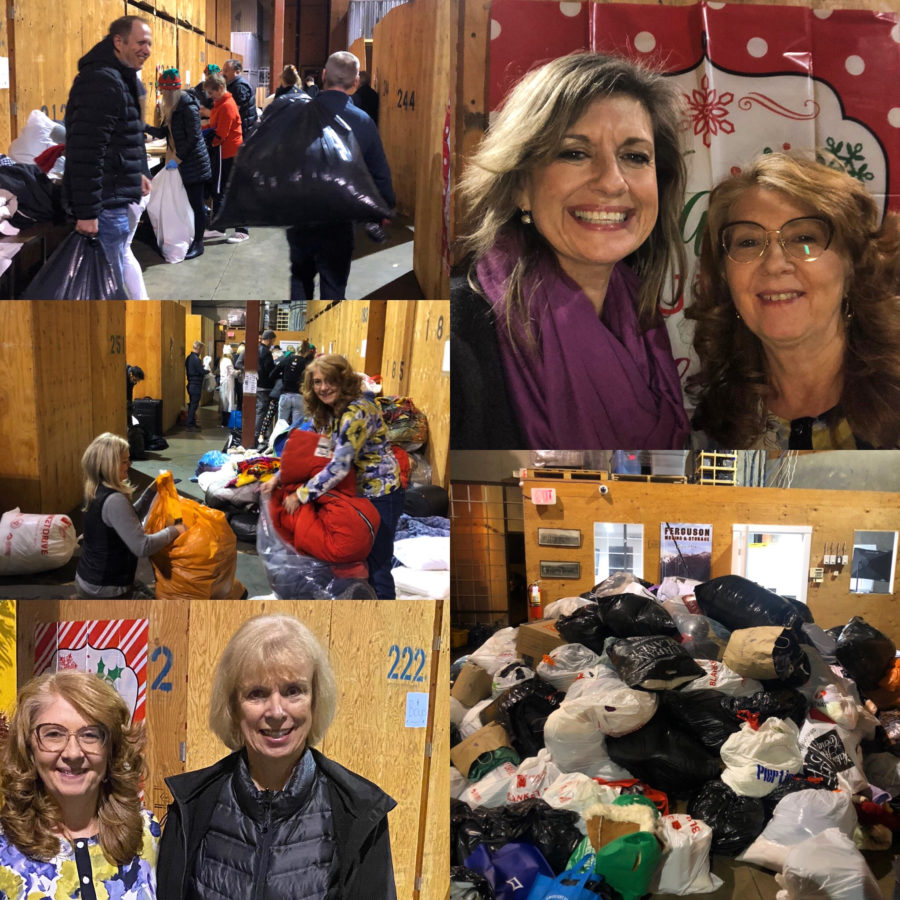 REALTORS Care Blanket Drive sorting party