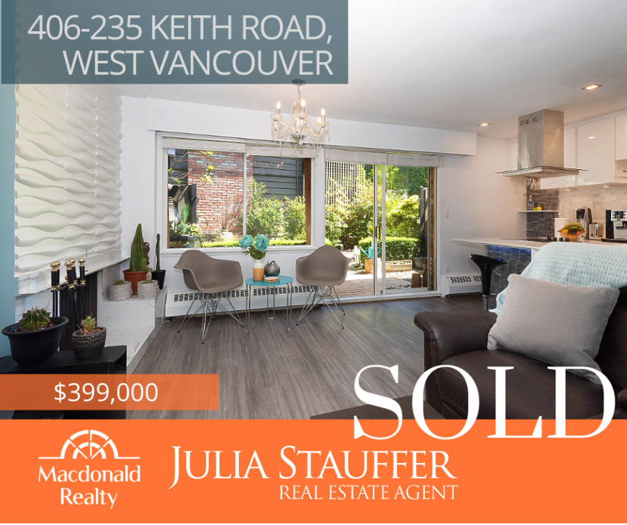 SOLD - 406-235 KEITH ROAD, WEST VANCOUVER
